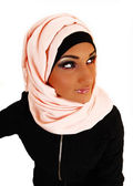 Pretty girl with scarf. — Stock Photo