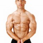 Bodybuilder portrait. — Stock Photo