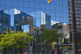Reflections in glass buildings. — Stock Photo