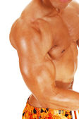 Biceps and chest. — Stok fotoğraf