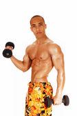 Guy exercising. — Stock Photo