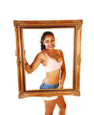 Framed girl. — Stock Photo