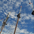 Tall ship three masts. — Stockfoto