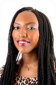Closeup of black girl. — Stock Photo