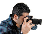Guy taking pictures. — Stock Photo