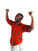 Happy black man. — Stock Photo