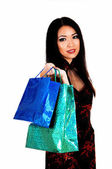 Girl with shopping bags. — Photo