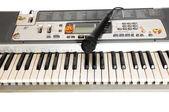 Keyboard and microphone. — Stock Photo