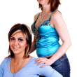 Two beautiful young girls in a portrait. — Stock Photo #4544634