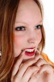 Closeup face of girl. — Stock Photo