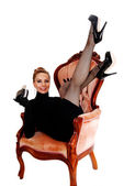 Woman with legs up. — Stock Photo