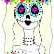 Day of the Dead concept — Stock Vector