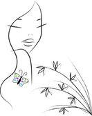 Beautiful nature girl — Stock Vector