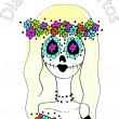 Day of the Dead concept — Imagen vectorial