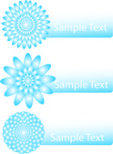 Set of banners with floral design — Vector de stock