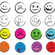 Smiley faces — Stock Vector #38108977