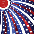 Vector de stock : Independence day 4th of July background