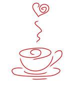 Doodle coffee — Stock Vector