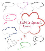 Bubble speech icon set — Stock vektor