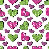 Seamless heart background — Stock Vector