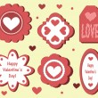 Set of Valentine's Day tags — Stock Vector #39307085