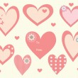Valentine's Day heart tags and labels — Stock Vector