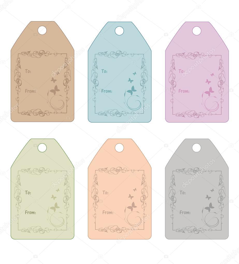conjunto de etiquetas lindo regalo para bodas duchas. Black Bedroom Furniture Sets. Home Design Ideas