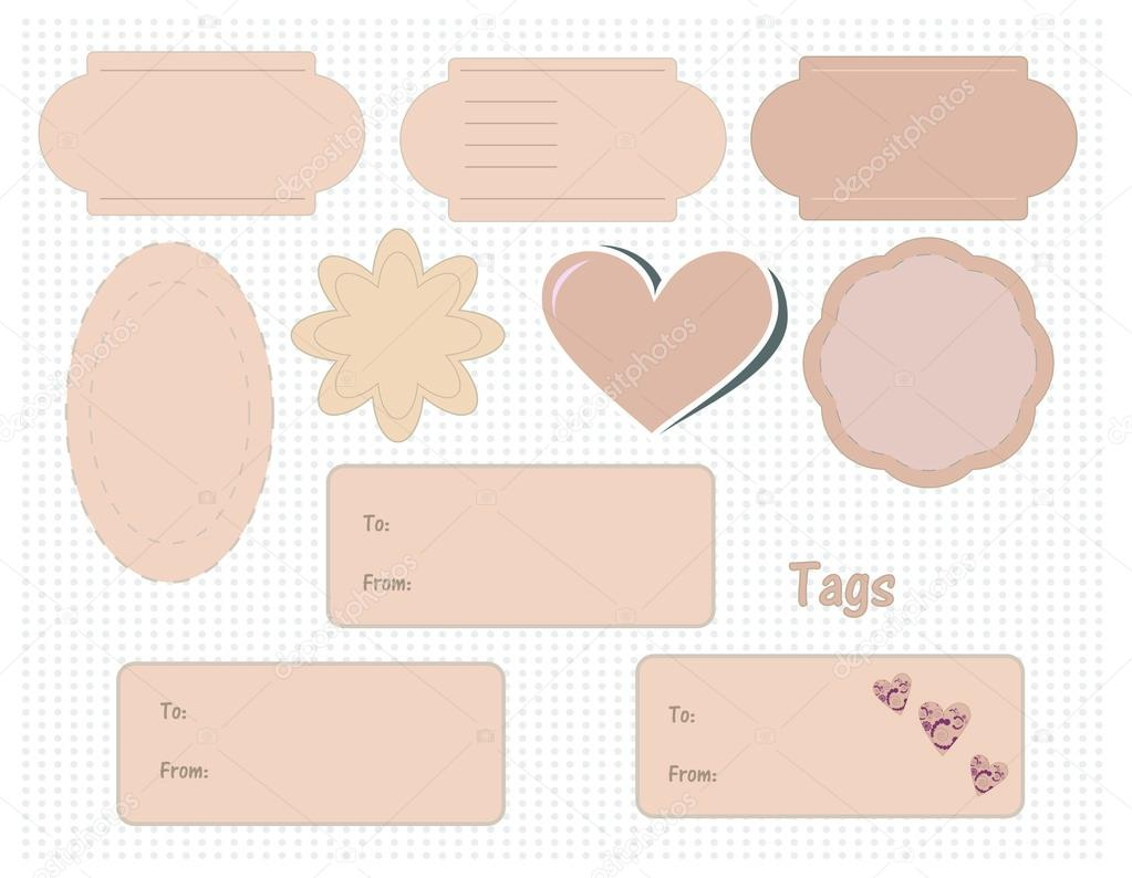Cute Blank Labels Set of cute blank tags and labels - stock ...
