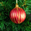 Christmas Toy on the Christmas tree — Stock Photo