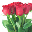 Beautiful bouquet of red roses isolated on white - Lizenzfreies Foto