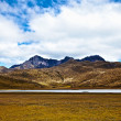 mountains and lake in the cotopaxi national park — Stock Photo