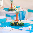 Beautifully decorated banquet table — Stock Photo #36741183