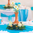 Beautifully decorated banquet table — Stock Photo