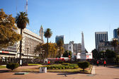 View of the Plaza de Mayo in Buenos Aires, Argentina — Stock Photo