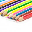 Colored pencils isolated on white — Stock Photo #38886097