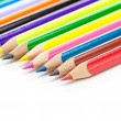 Stock Photo: colored pencils isolated on white