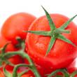 Stock Photo: Red ripe tomato isolated on white