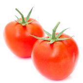 Red ripe tomato isolated on white — Stock Photo
