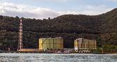 Rusty industry silos — Stock Photo