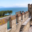 Garda lake Fortification in Sirmione - Stock Photo