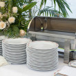 Italian empty catering food warmer - Stock Photo