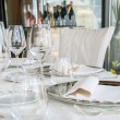 Event setting lunch in restaurant - Stock Photo