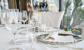 Event setting lunch in restaurant — Stock Photo