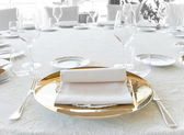 Wedding catering setting — Stock Photo