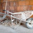 Masonry Wheelbarrow - Stock Photo