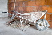 Masonry Wheelbarrow — Stock Photo