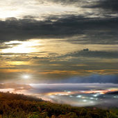 Jinlong mounain sunrise, Taiwan — Stock Photo