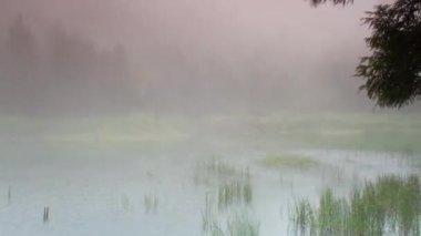 промежуток времени qixingshan мечта озеро, облака, тайвань — Стоковое видео