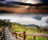 Amazing sunrise and mountain — Stock Photo