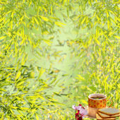 Tea coffee with nice backgroun — Foto de Stock